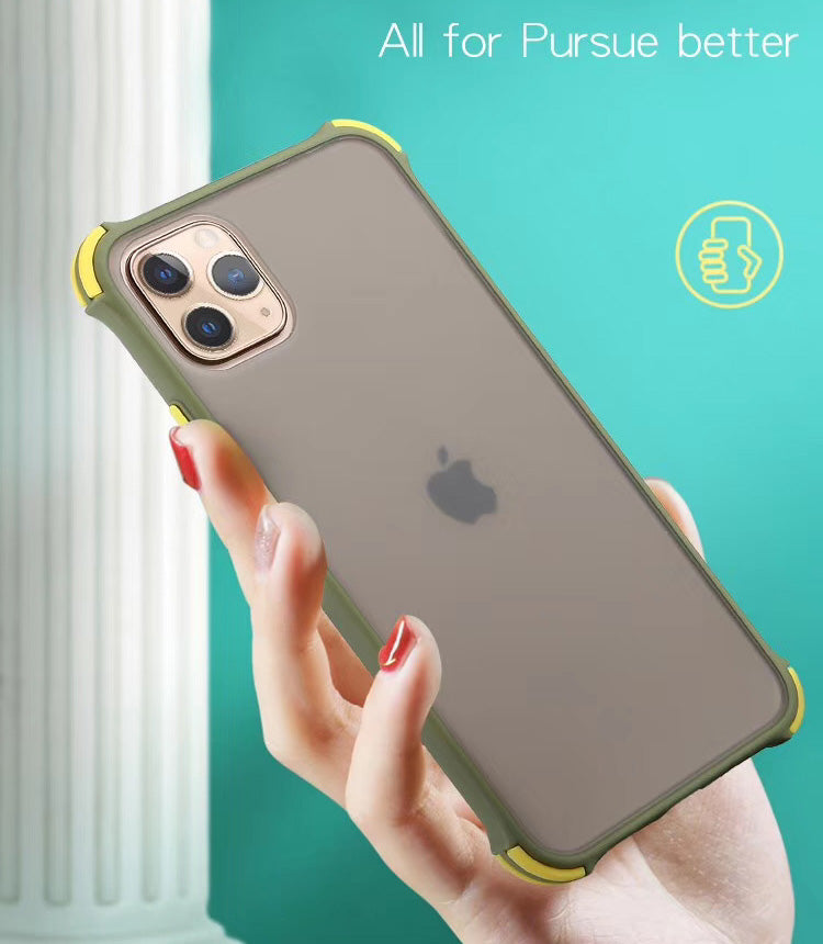 New Matte Translucent Reinforced Corners Shockproof Case Cover for iPhone Models