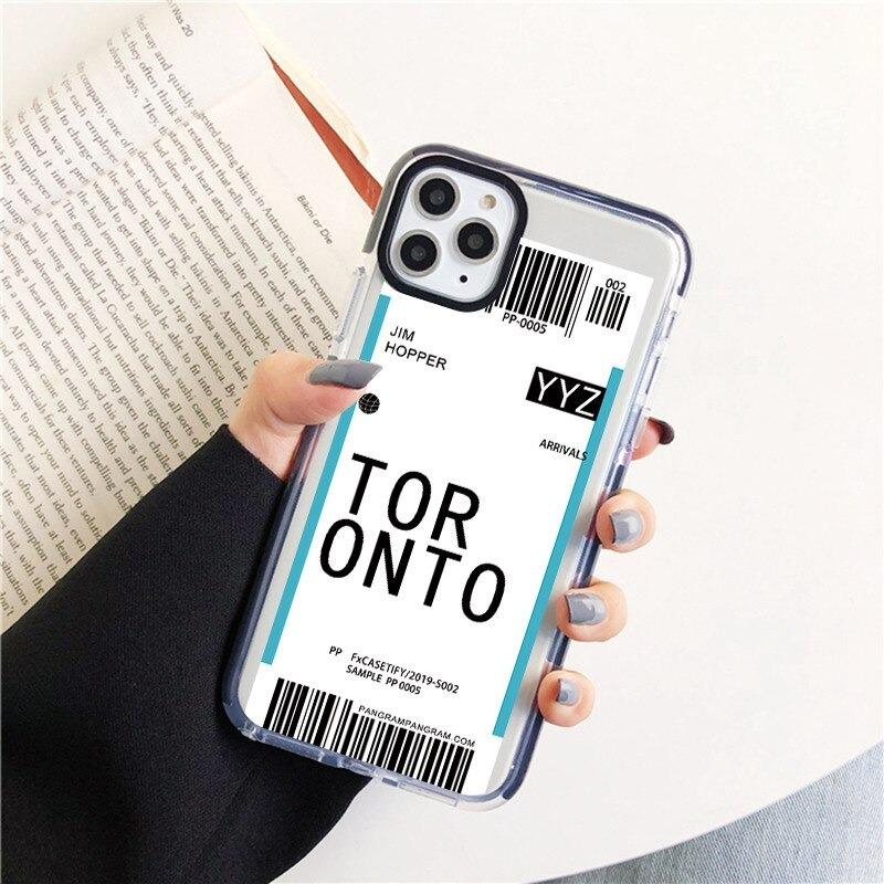 Best Airplane Ticket World Soft TPU Phone Case For iPhone 11 Pro Max