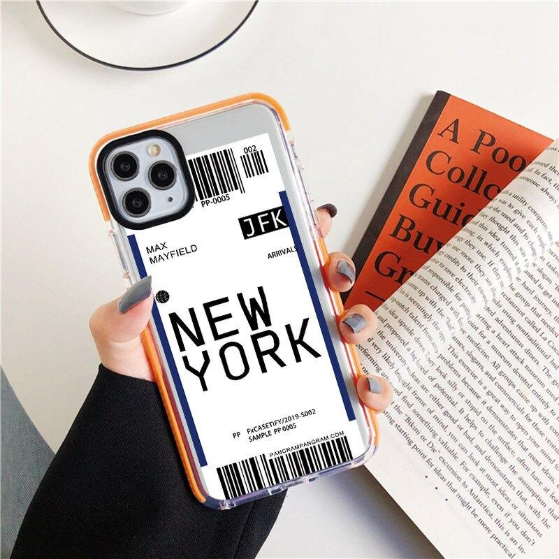 Best Airplane Ticket World Soft TPU Phone Case For iPhone Xsmax