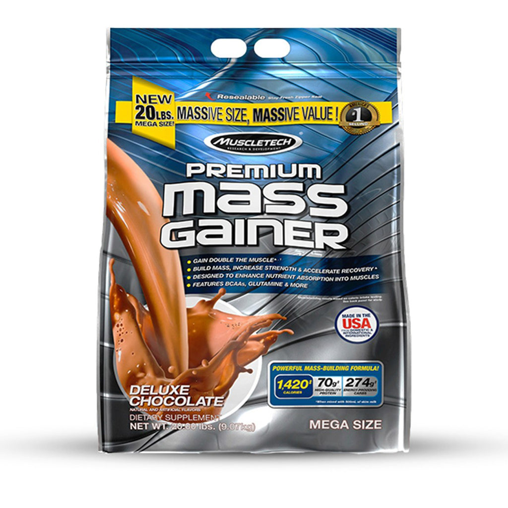 New Muscle Tech Premium Mass Gainer 20 lbs Supplement For Men Women