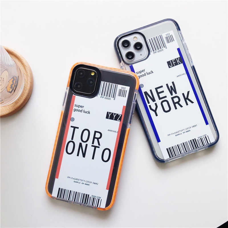 Best Airplane Ticket World Soft TPU Phone Case For iPhone