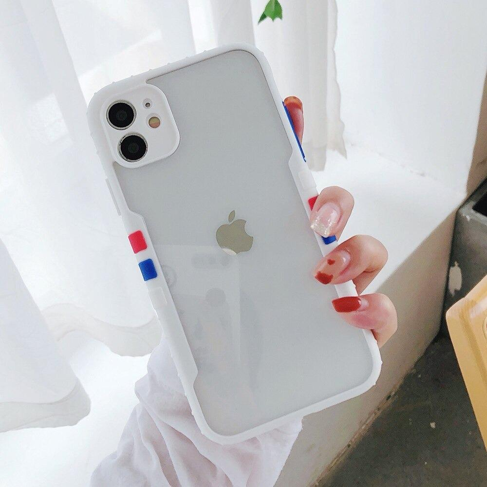 Anti Slip Matte Contrast Bumper Soft TPU Mobile Cover For iPhone Xsmax