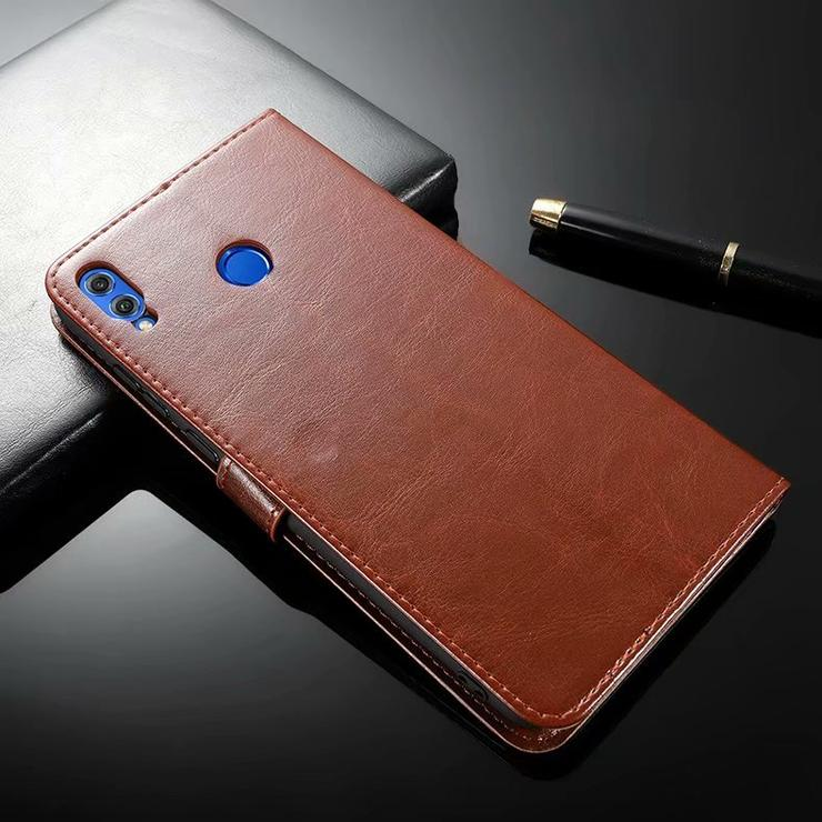 Genuine Leather Credit Card Slot Magnetic Closure Phone Case For iPhone