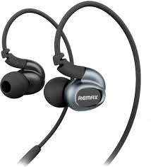 New Elegant S1 Pro 3.5 mm Wired Control Sports Hands Free In-Ear Headphone With Mic( Black) - Pkgator