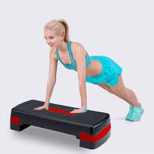 3 Levels Aerobic Step Board Adjustable Bench Stepper Exercise Bench