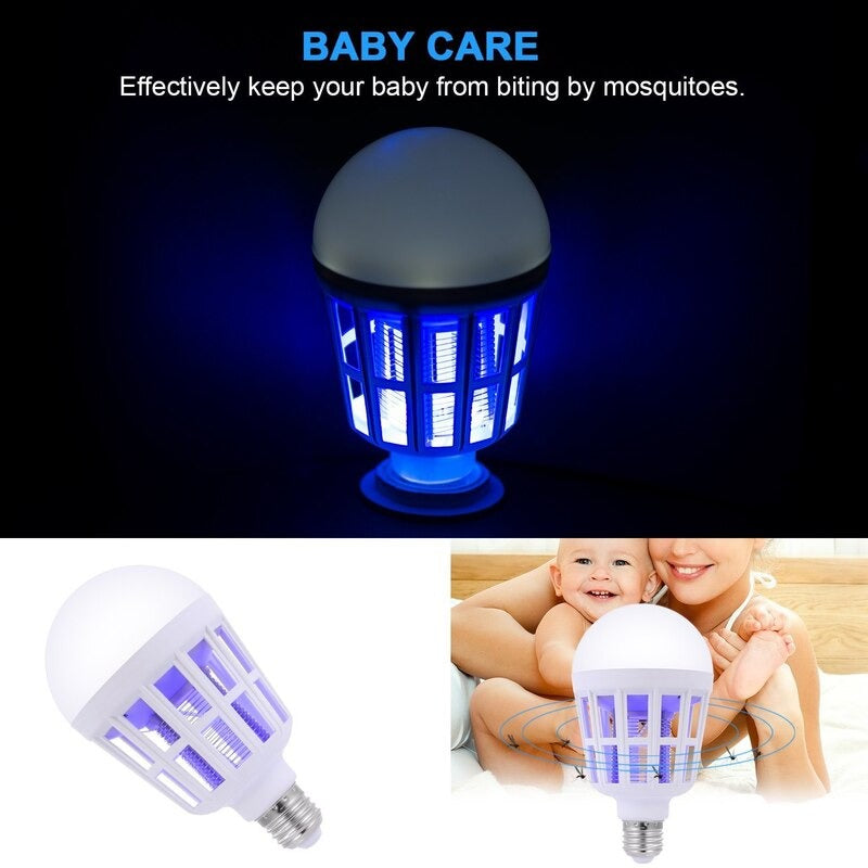 New LED Mosquito Killer Bulb LED E27 Bulb Dual Use For Home Lighting Portable