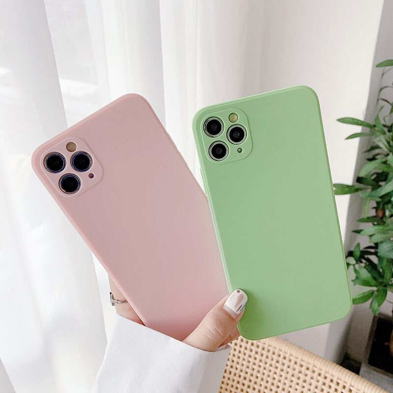 Luxury Latest Soft Silicone Candy Color Phone Cover For iPhone