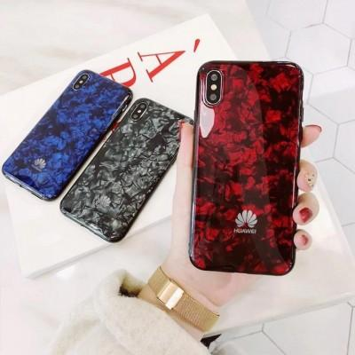 Marble Pattern Hard Tampered Glass Phone Case For Huawei - Pkgator