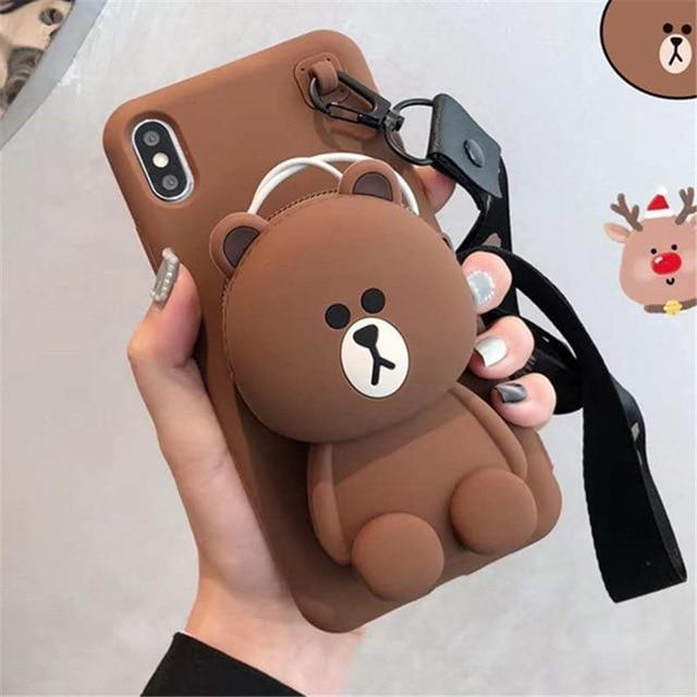 Cartoon Silicone Case for iPhone 8,8 Plus, iPhone X,XS,Xsmax & iPhone 11 Models