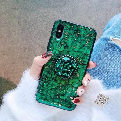 Glitter Fancy Mobile Ring Holder Stand Phone Cover For Huawei - Pkgator