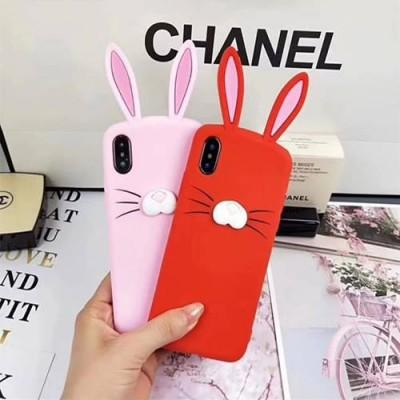 Cute Rabbit Ears Soft Silicon bunny cell phone case for iphone - Pkgator