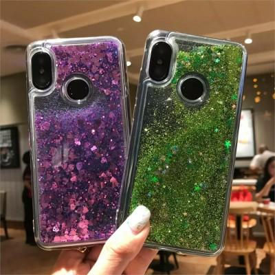 Soft TPU Clear Transparent Glitter Liquid Phone Case For Oppo - Pkgator