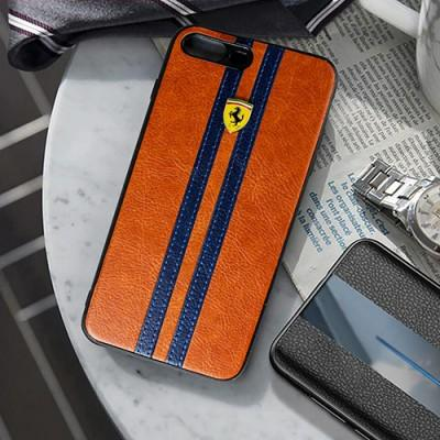 Luxury Sports Edition Ferrari Logo leather mobile cover for Samsung - Pkgator