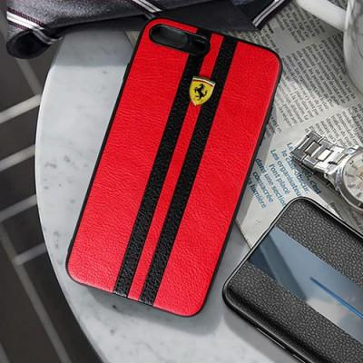 Luxury Sports Edition Ferrari Logo Leather Mobile Cover For iPhone - Pkgator
