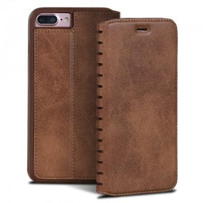 Leather Flip Case With Bank Card Holder For  iPhone - Pkgator