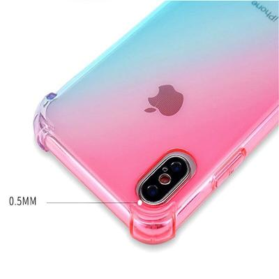 Rainbow Gradient Color Soft Mobile Cover For Huawei - Pkgator