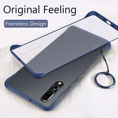 Luxury Frame-less Transparent Hard Mobile Cover For Huawei - Pkgator