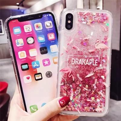 New Stylish Glitter Dynamic Liquid Silicone Phone Case For iPhone - Pkgator