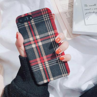 New Trendy Fabric Cloth Check Style Mobile Cover For Huawei - Pkgator