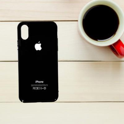 New Latest High Quality Back Glass Protector For iPhone (Black) - Pkgator