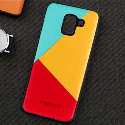 Leather Geometry Splice Designed Phone Case For Oppo - Pkgator