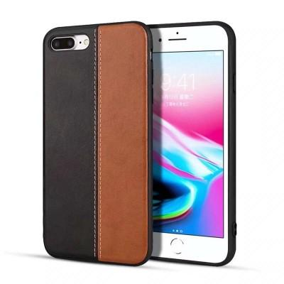New Fashion Contrast Color Leather Phone Cover For iPhone - Pkgator