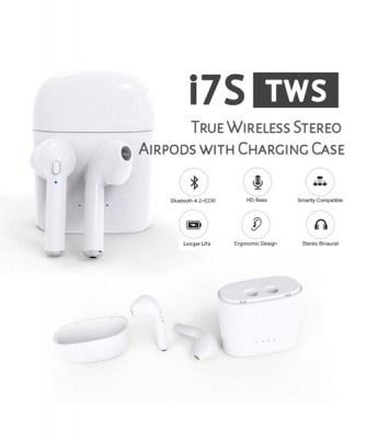 New Exclusive I7s TWS Wireless Airpods Compatible With All Smartphones - Pkgator