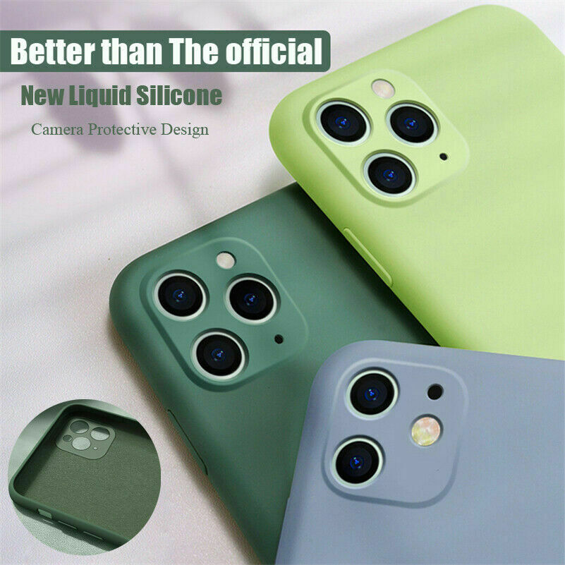 New Luxury Soft Silicone Candy Color Phone Cover For iPhone