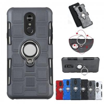 New Hybrid Armor Ring Magnetic Phone Case For iPhone - Pkgator
