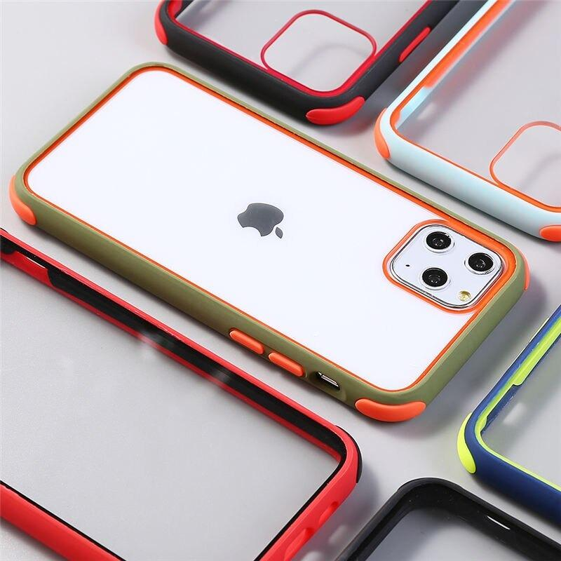 Transparent Colorful Bumper Ball Clear Protective Back Cover For iPhone 7/8 Plus