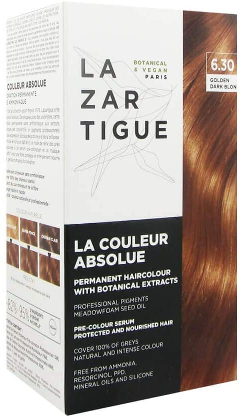 Lazartigue La Couleur Absolue Tinte Natural 6.30 Rubio Dorado Oscuro