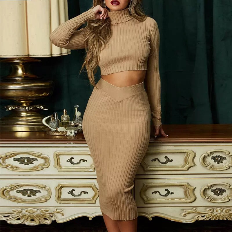 Long sleeve bodycon set