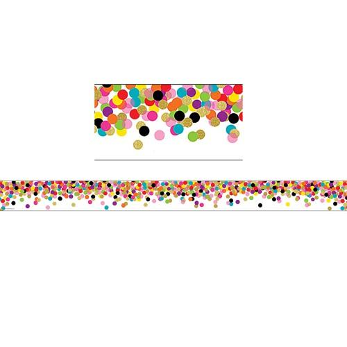 CONFETTI STRAIGHT BORDER TRIM 12 PC