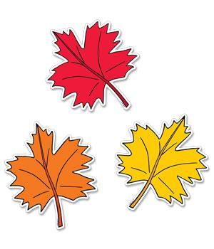 FALL LEAVES 6 DESIGNER CUT-OUTS 36 PCS