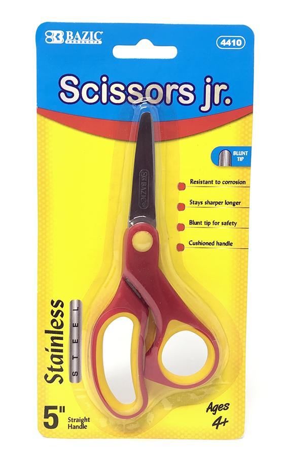 SOFT GRIP BLUNT TIP STAINLESS STEEL SCISSORS 5