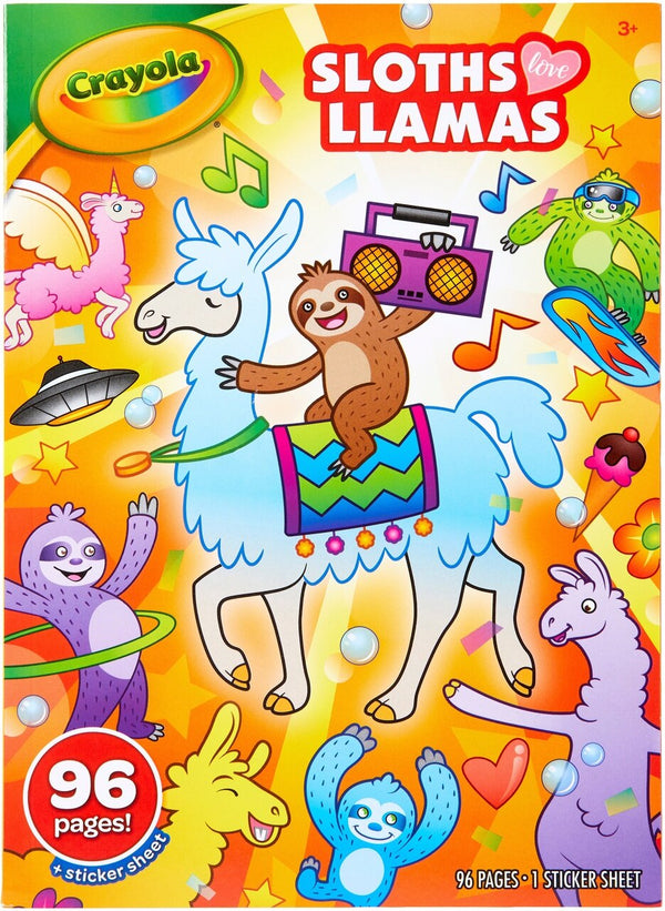 COLORING BOOK SLOTHS LLAMAS