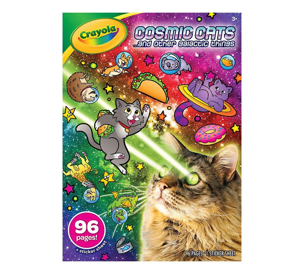 COLORING BOOK COSMIC CATS 96 PG