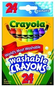 CRAYOLA WASHABLE ULTRA CLEAN CRAYONS PQ.24