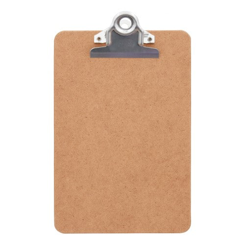 "HARDBOARD CLIPBOARD WOOD BROWN 6"" X 9"""