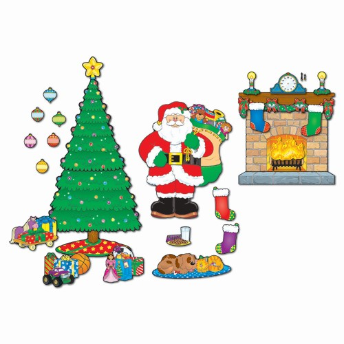 BULLETIN BOARD SET CHRISTMAS SCENE