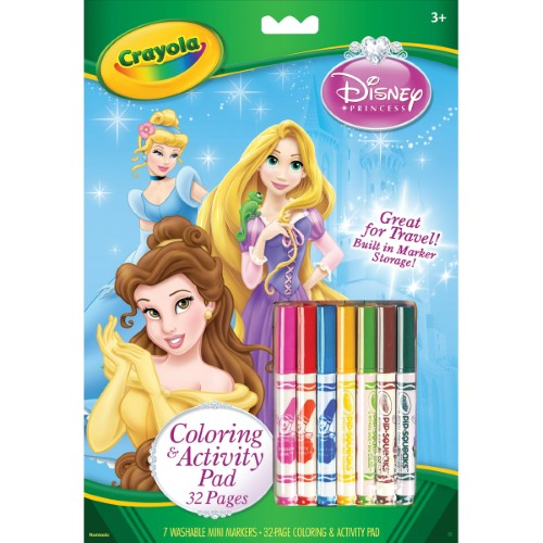 COLORING & ACTIVITY PAD WMARKERS 32 PG