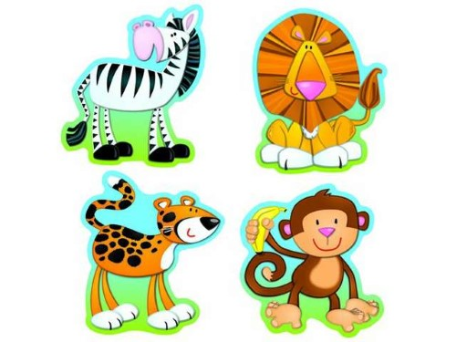 COLORFUL CUT-OUTS JUNGLE ANIMALS