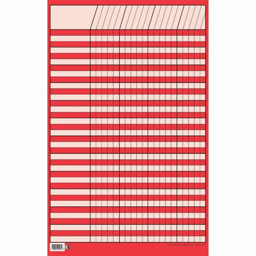 "RED SMALL INCENTIVE CHART 14"" X 22"""