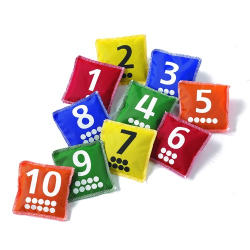 NUMBERS & DOT BEAN BAGS, SET OF 10