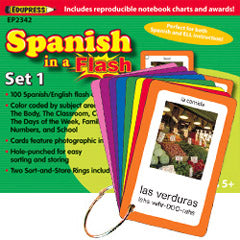 FLASH CARD SPANISH SET 1