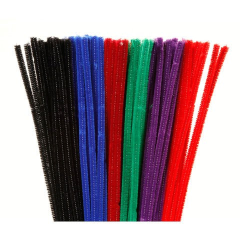 "DAR CHENILLE ASSORTED 100PK  12""X6MM"