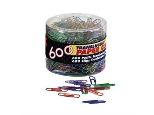 PAPER CLIPS #1 ASST COLORS PQ.600