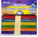 CRAFT STICKS COLORS JUMBO PQ.50
