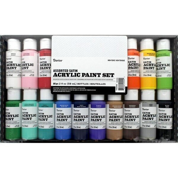 ACRYLIC PAINT SET 16PCS SATIN