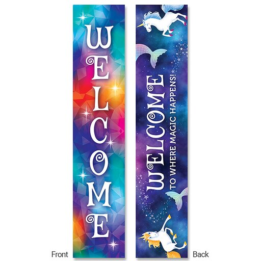MYSTICAL MAGICAL WELCOME BANNER 2-SIDED